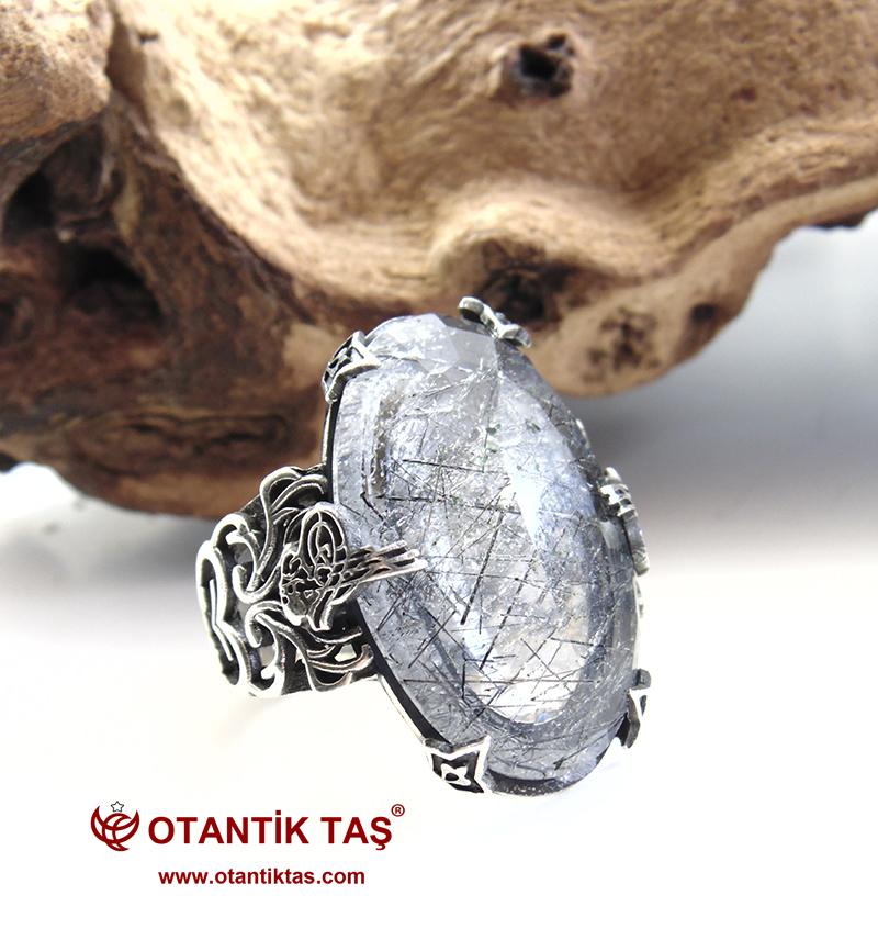 Rutil Kuvars Gümüş Yüzük