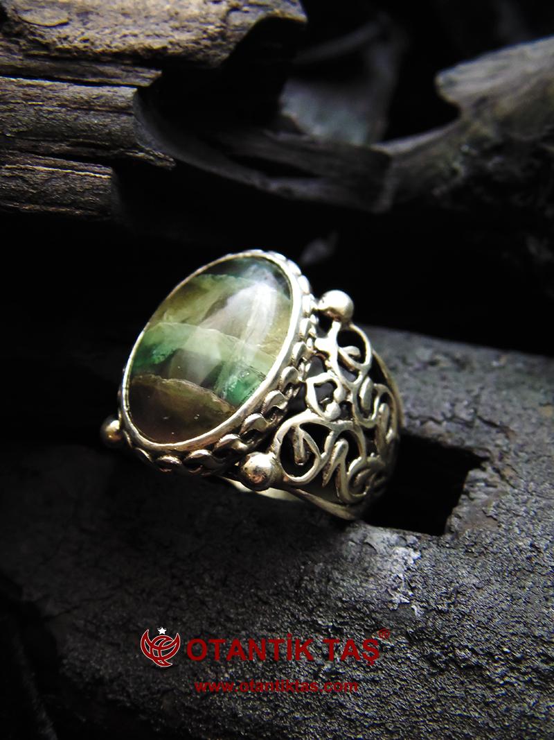 Florit Taşı Gümüş Yüzük