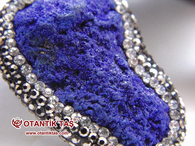 Mavi Azurit Taş Kolye