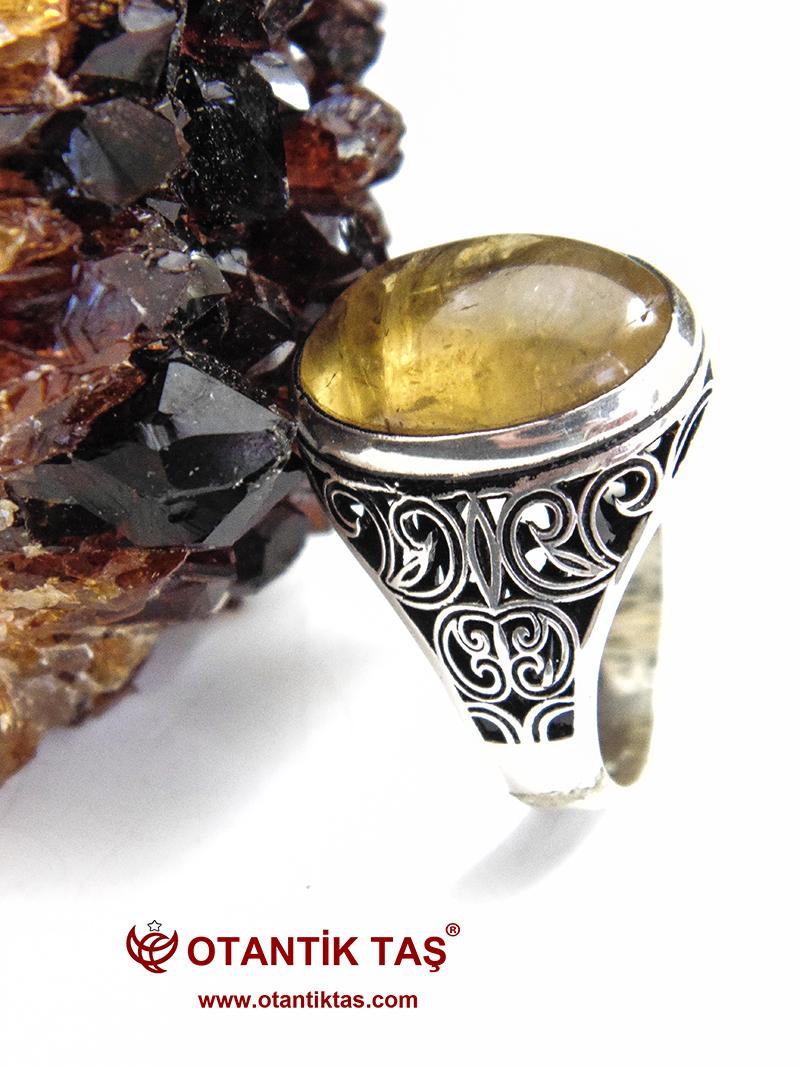 Sitrin Gümüş Yüzük