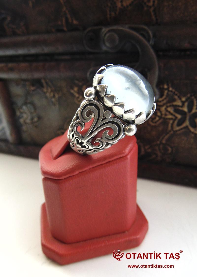 Akuamarin Taşı Gümüş Yüzük