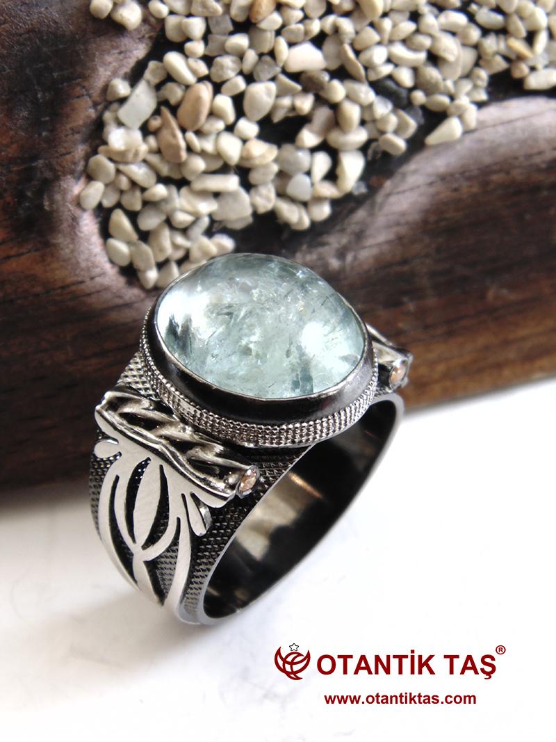 Akuamarin Gümüş Yüzük